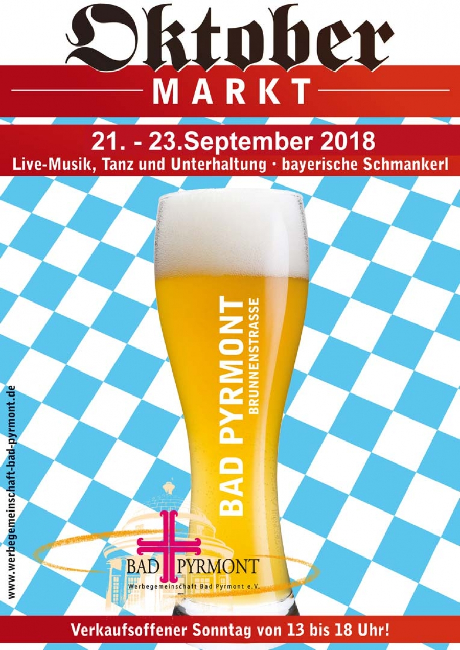 Oktobermarkt in Bad Pyrmont vom 21. bis 23. September 2018