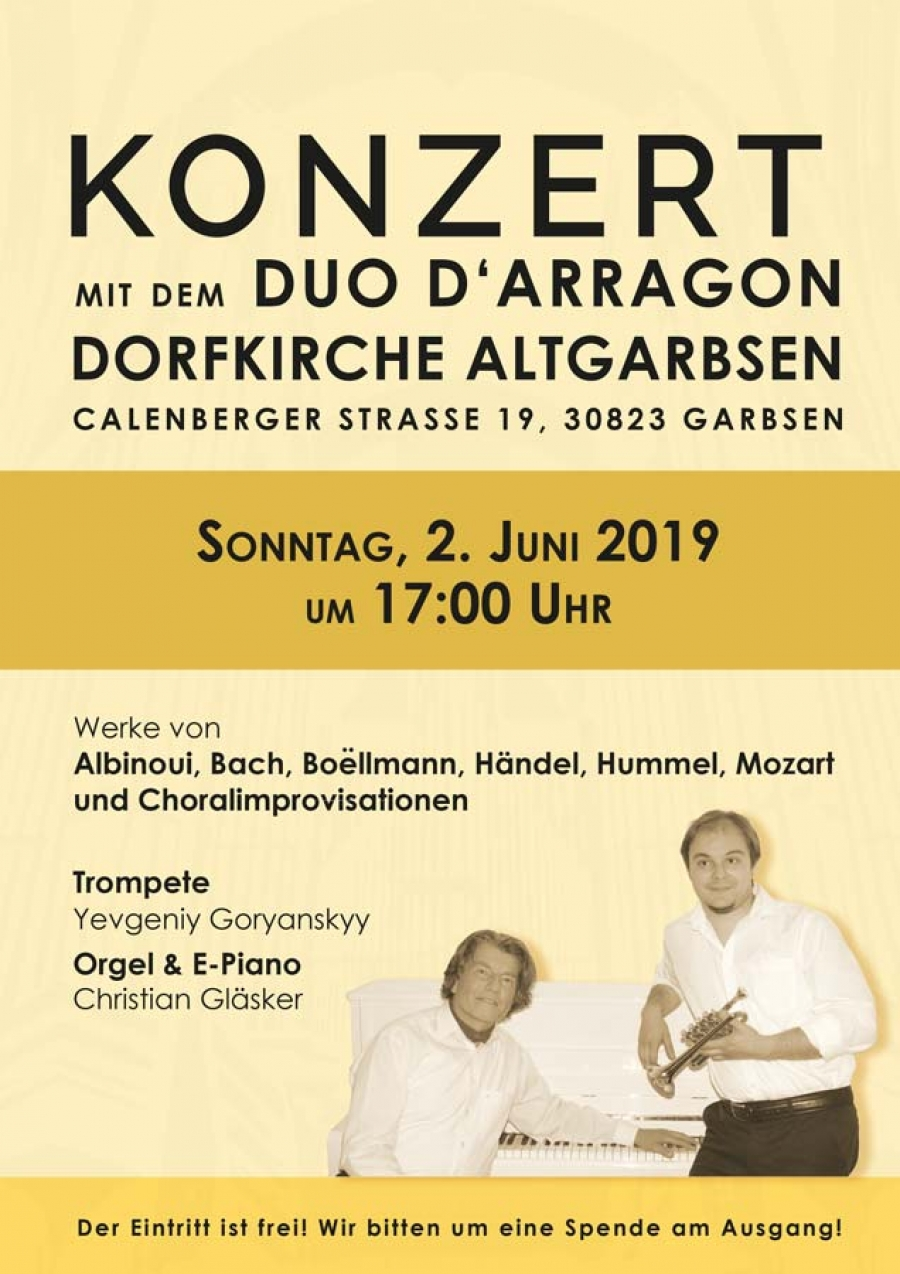 Konzert mit dem Duo D'Arragon in Altgarbsen am 2. Juni 2019 (C) Duo D'Arragon