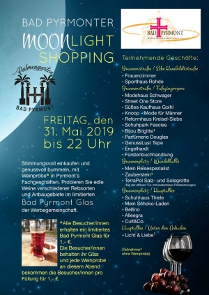 Bad Pyrmonter Moonlight Shopping am 31. Mai 2019 (C) Werbegemeinschaft Bad Pyrmont