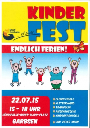 Kunterbuntes Sommerfest zum Start in die Ferien am 22. Juli 2015 in Garbsen